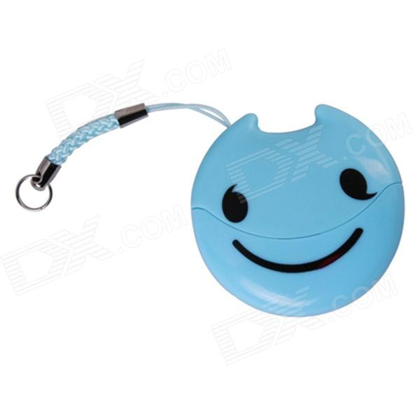 Easeyes E202 Smile Face Pattern USB 2.0 Micro SD / TF Card Reader - Blue