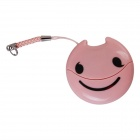 Easeyes E202 Smile Face Pattern USB 2.0 Micro SD / TF Card Reader - Pink