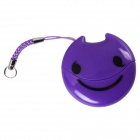 Easeyes E202 Smile Face Pattern USB 2.0 Micro SD / TF Card Reader - Purple