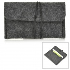 LIT SJ-01 Protective Wool Felt Case for Cellphones - Dark Grey