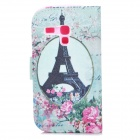 Eiffel Tower Pattern Protective PU Leather Case for Samsung Galaxy S3 Mini i8190 / i8160