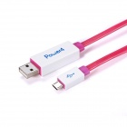 Power4 Micro USB Visible Flowing Current Data Sync / Charging Cable for Samsung / HTC - White (75cm)