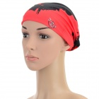 Outdoor Sports Multi-function Seamless Polyester Head Scarf - Red + Multicolored (3 PCS)