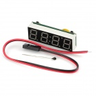 4-Digit LED 7-Segment Display Time / Temperature Car Voltmeter - Green