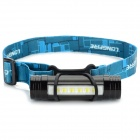 Convenient 1500mAh Rechargeable 6-LED Head Lamp for Camping - Black