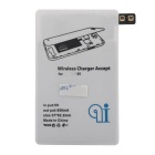 QI Wireless Charger Pad + Charger Receiver for Samsung GalaxyS5 -White