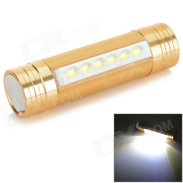 Convenient 1500mAh Rechargeable 6-LED Head Lamp for Camping - Golden - DXHeadlamps<br>Color Golden Brand N/A Model 811 Quantity 1 Piece Material Aluminum alloy Best Use ClimbingRock ClimbingFamily &amp; car campingBackpackingCampingTravelCycling Other Features Three lighting modes: high low strobe Packing List 1 x Head lamp 1 x Head band 1 x USB cable (20cm)<br>