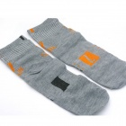 Men's Casual Style Days Of The Week Pattern Cotton Socks - Gray (7 Pair)
