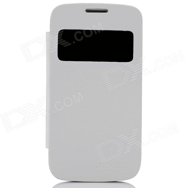 DOOGEE Protective PU Leather + Plastic Flip Open Case Cover for VOYAGER DG300 - White