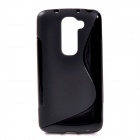 """X"" Style Protective TPU Back Case for LG Optimus G2 Mini - Black"