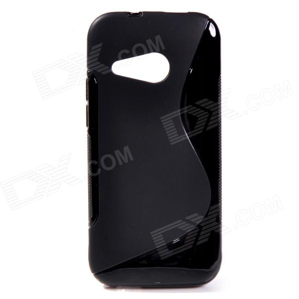 S Style Protective TPU Back Case for HTC One 2 Mini / M8 - Black