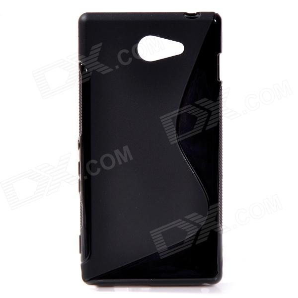 "S"" Style Protective TPU Back Case for Sony Xperia M2 - Black"