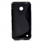 """S"" Style Protective TPU Back Case for NOKIA Lumia 630 / Lumia 635 - Black"