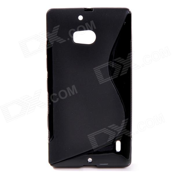S Style Protective TPU Back Case for NOKIA Lumia 929 - Black s style protective soft tpu back case for nokia lumia 928 translucent grey