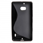 """S"" Style Protective TPU Back Case for NOKIA Lumia 929 - Black"