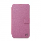 Flower Show Protective PU Leather Case Cover Stand for Samsung Galaxy S5 - Deep Pink