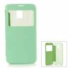 Protective PC Case w/ Window forSamsung Galaxy S5 - Green