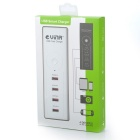 Vina ups-004 Safety Smart 5A High Speed 4-Port USB Fast Charger w/ Power Adapter - White (EU Plug)