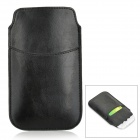 Protective PU Leather Case w/ Card Slot for Samsung Galaxy S5 / S4 - Black