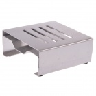 Square Stainless Steel Cup Mat / Coasters Set w/ Stand Holder - Silver (4 Pieces Cup Mat)