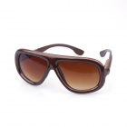Retro Style UV400 Protection Sunglasses - Reddish Brown