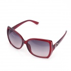 Fashionable Big-Frame Style UV400 Protection Sunglasses - Claret Red