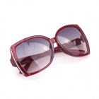 Muodikas Big-Frame Style UV400 Protection Aurinkolasit-Claret Red