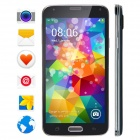 "No.1 S7 MTK6582 Quad Core Android 4.2.2 WCDMA Pone w/ 5"", 1GB RAM, 8GB ROM, Dual Camera - Black"