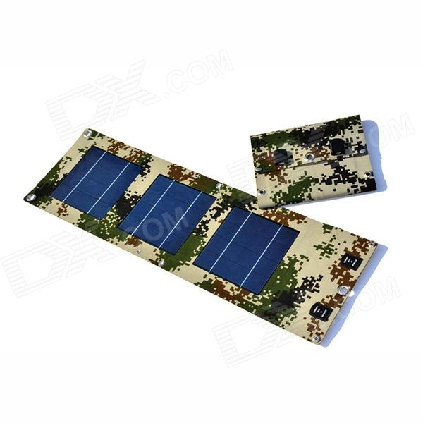 SOA-011 Portable 5V Dual USB Folding 10W Solar Powered Panel - Digital Camouflage