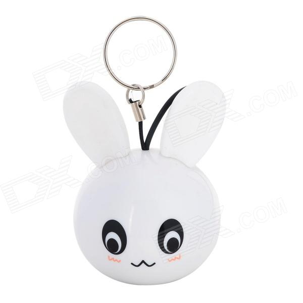Mini Cute Rabbit Style 5W 3.5mm Plug Speaker for IPHONE + More - White mini mic speaker for iphone ipod mp3 mp4 white 3 5mm plug