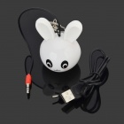 Mini Cute Rabbit Style 5W 3.5mm Plug Speaker for IPHONE + More - White