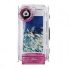 WP-i5 40M Diving Waterproof Photo Protective Case for IPHONE 5 / 5S / 5C - Purple