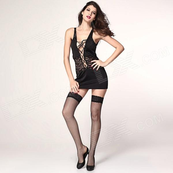 Beauty Night Chemise mini vestido - Negro