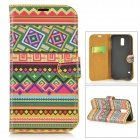 Protective PU Leather Case w/ Card Slot for Samsung Galaxy S5