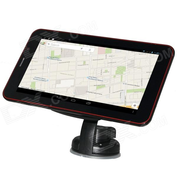 788 7 Touch Screen Android 4.2 GPS Navigator w/ Wi-Fi / DVR Camera / Phone Call - Black (4GB)