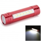Convenient 1500mAh Rechargeable 6-LED Head Lamp for Camping - Red