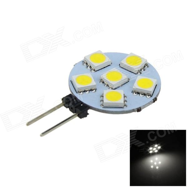 G4 1W 100lm 6-SMD 5050 LED Cool White Car Instrument Light  (12V)