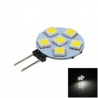G4 1W 100lm 6-SMD 5050 LED luz branca do instrumento do carro (12V)