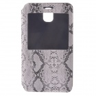 Protective PU Leather Case Cover w/ Visual Window for Samsung Galaxy Note 3 - Black + White