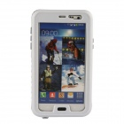 Protective PC + Silicone Waterproof Case for Samsung Galaxy Note 3 - White + Transparent