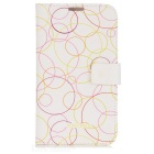 Kinston Circles Drawing Pattern Protective PU Leather Case Cover for Samsung Galaxy Note 2 N7100