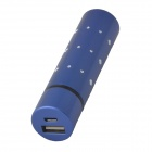 Portable Cylinder Shape USB 1500mAh Power Source Bank w/ Artificial Diamond for Mobile Phone - Blue