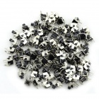 MaiTech 6*6*7MM Touch Switch / Micro Switch / Button Switch - Silver + Black (100 PCS)