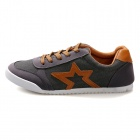 Star Casual Canvas Shoes - Grey + Brown (Size 43)