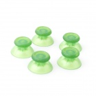 008 MGT Colorful PS4 Gamepad 3D Mushroom Rocker Cap - Translucent Green (5 PCS)