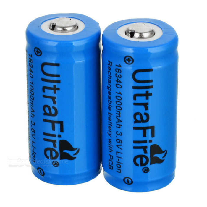 ultrafire lc 16340 3 6v 1000mah protected cr123a batteries. Black Bedroom Furniture Sets. Home Design Ideas