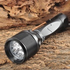 TrustFire TR-DF005 2800LM 5-LED 3-mode White Diving Flashlight - Black (2 x 26650)
