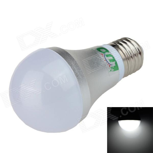 LUO LUO_05 E27 7W 6500K 650lm 10-SMD 5630 LED White Light Bulb - Silber + Weiß (AC 85 ~ 265V)