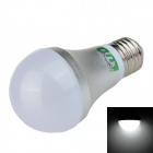LUO LUO_05 E27 7W 650lm 6500K 10-SMD 5630 LED White Light Bulb - Silver + White (AC 85~265V)