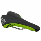 A6 Breathable Outdoor Mountain Cycling Saddle Seat - Black + Fluorescent Green